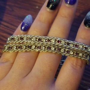 Gold and silver tone bracelets